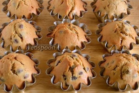Выпекайте тесто в разогретой до 190-200°С духовке примерно 25-35 минут. Готовые кексы остудите при комнатной температуре.