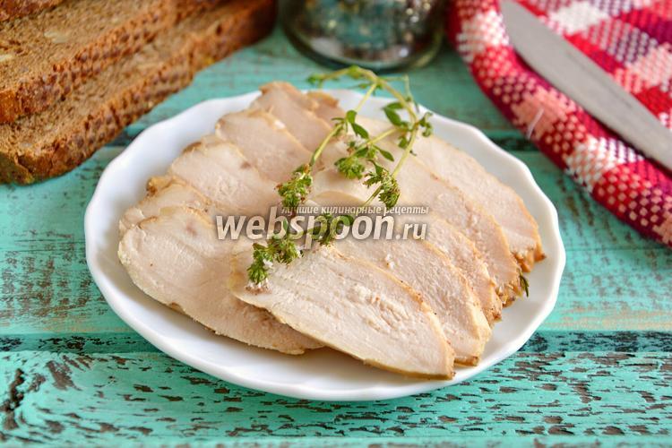 Фото Куриная грудка «бутербродная» в мультиварке