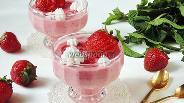 Фото рецепта Десерт из клубники со сливками