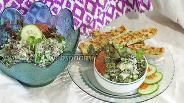 Фото рецепта Салат из грейпфрута, клевера и мяты