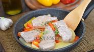 Фото рецепта Филе тунца с картофелем и сладким перцем