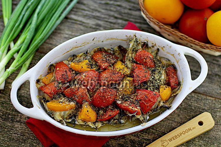 Фото Мойва с помидорами в духовке