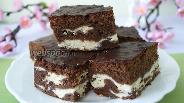 Фото рецепта Шоколадный «Мраморный» пирог с творогом