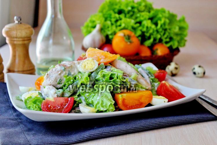Фото Салат с курицей и йогуртом