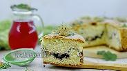 Фото рецепта Бисквит с белой смородиной