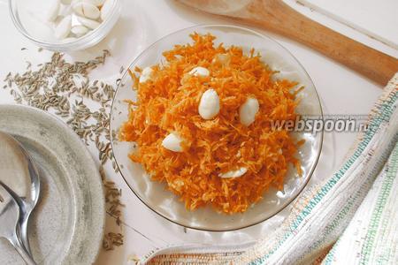 Морковный салат с миндалём
