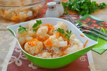 Фото рецепта Цветная капуста по-корейски