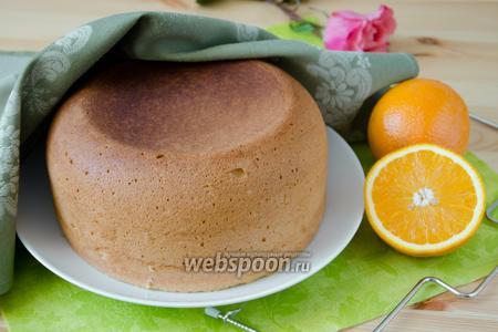 Апельсиновый бисквит в мультиварке