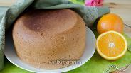 Фото рецепта Апельсиновый бисквит в мультиварке