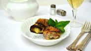 Фото рецепта Рулетики из баклажанов с ветчиной и сыром