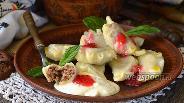 Фото рецепта Вареники с творогом и печеньем