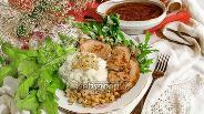 Фото рецепта Карбонат из свиной корейки в смородиновом соусе