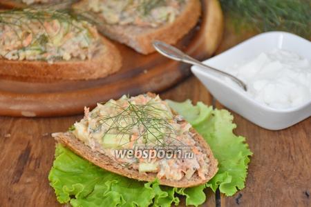 Фото рецепта Бутерброды «по-шведски» с сардинами
