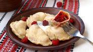 Фото рецепта Вареники с малиной