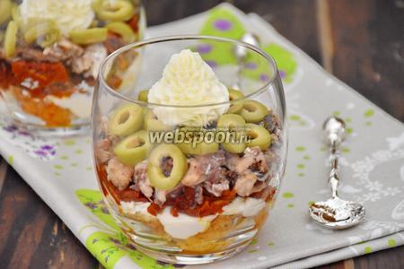 Веррины с сардинами, вялеными томатами и оливками