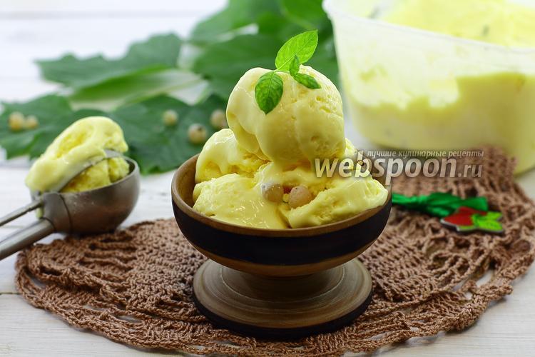 Фото Сливочное мороженое с белой смородиной