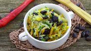 Фото рецепта Жареная капуста с чёрной фасолью