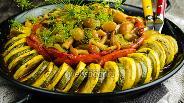 Фото рецепта Рататуй из цукини с грибами и стручковой фасолью