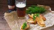Фото рецепта Сыр Сулугуни в кляре из тёмного пива