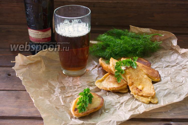 Фото Сыр Сулугуни в кляре из тёмного пива