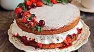 Фото рецепта Торт «Королева Виктория»