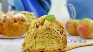 Фото рецепта Лимонный пирог с белой смородиной и яблоком