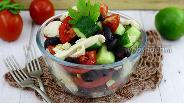 Фото рецепта Салат с чёрной фасолью и помидором