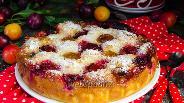 Фото рецепта Пирог с алычой и кокосом