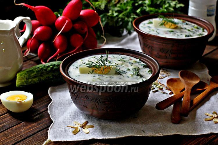 Фото Диетическая окрошка на йогурте