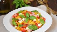 Фото рецепта Итальянский салат с макаронами и ветчиной