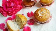 Фото рецепта Йогуртовые кексы с кокосовой стружкой