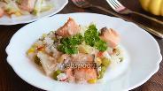 Фото рецепта Горбуша с рисом и овощами