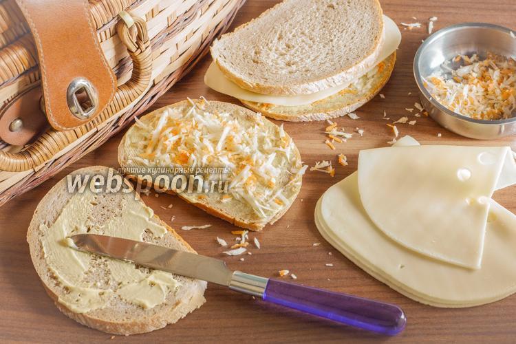 Фото Вегетарианский сэндвич с сыром