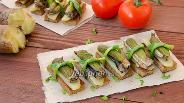 Фото рецепта Тосты со шпротами и огурцами