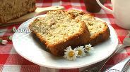 Фото рецепта Кекс с ревенем и орехами