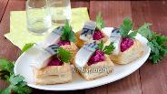Фото рецепта Закуска с солёной скумбрией и свёклой