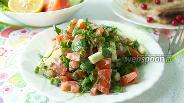 Фото рецепта Салат из свежего кабачка и помидора