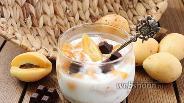 Фото рецепта Ленивая овсянка с абрикосом