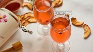 Фото рецепта Компот из сушёных яблок и клюквы
