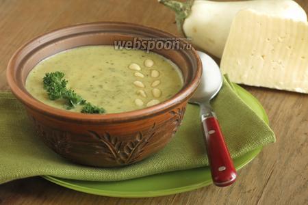 Крем-суп из баклажанов и сыра