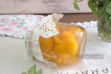 Консервированные абрикосы в имбирном сиропе