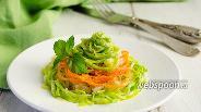 Фото рецепта Спагетти из кабачков