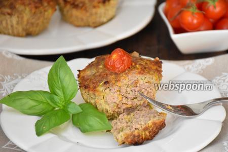 Мясные маффины с овощами