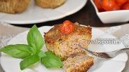 Фото рецепта Мясные маффины с овощами