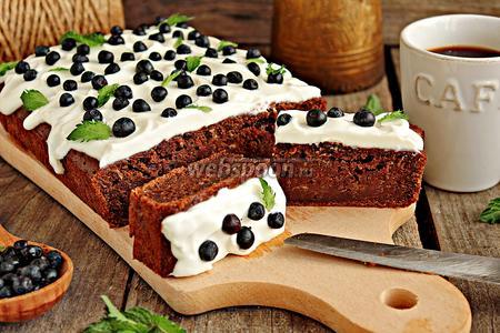 Фото рецепта Кекс шоколадный с кабачком
