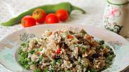 Фото рецепта Плов вегетарианский с грибами в мультиварке