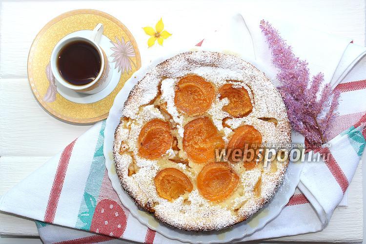 Фото Клафути с абрикосами