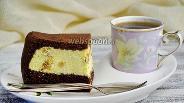 Фото рецепта Ватрушка в мультиварке шоколадная