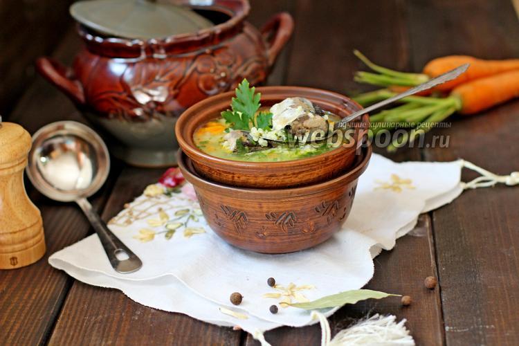 Фото Суп из рыбных консервов с пшеном