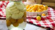 Фото рецепта Кабачки с алычой «как ананас»